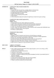 Community Organizer Resume Community Organizer Resume Samples Velvet Jobs 1