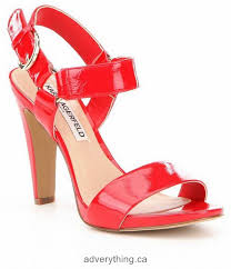 clearance women karl lagerfeld paris cieone ankle strap patent leather dress sandals lipstick red