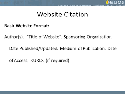 apa website citation format creating citations objective students will understand how to create