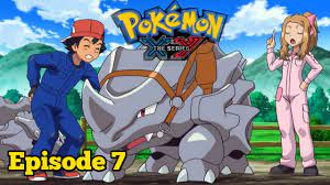 Giving Chase at the Rhyhorn Race | Pokemon XY Episode 7 English Dub | Pokemon  x and y ep 7 - YouTube