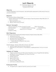Objectives For Medical Assistant Resumes Objectives For Resumes