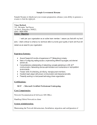 Resume For Federal Jobs Templates Resume For Study