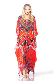 Embellished Kaftan Dresses Lace Up Dress In Red Butterfly Print Kaftan Gown