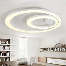 white acrylic led ceiling light fixture flush mount lamp restaurant dining room foyer kitchen bedroom el