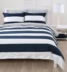 navy and white striped quilt