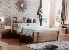 single bed size design. King Single Bed With Side Bookcase Converts To Queen Size NEW In Vintage Oak Design I
