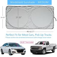 Windshield Sun Shade Suv Car Chart With Your Vehicle