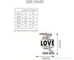 Wall Decal Size Chart
