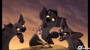 Image result for timon surrounded by hyenas