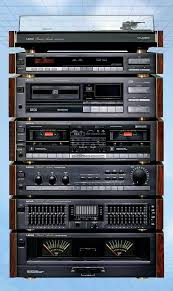 old sony home sound system. old school racks...wisn they still made everything with same dementions. crisp sony home sound system