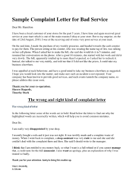 Complain Business Letter 2 Complaint Letter To Service Provider Examples Pdf