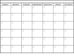 Printable Meal Calendar | Printable Calendar