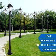 house beautiful solar led post lights 30 outdoor garden light waterproof pillar lamp for decoration