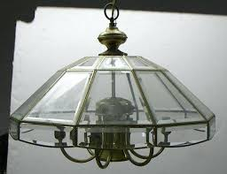 beveled glass chandelier parts mid c brass and