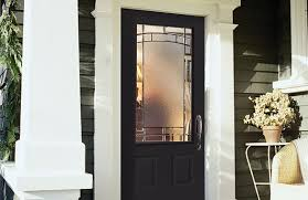 and clear beveled glass with its antique black caming element will add curb appeal to your home the privacy rating is 5 view element entrance door