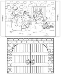 Paul And Silas In Jail Coloring Page Bible Crafts Sunday School