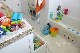 bathroom stupendous bathtub toy storage photo modern