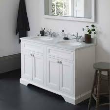 double bowl vanity. Fine Double Burlington 130 Vanity Unit With Minerva Worktop U0026 Double Bowl Throughout A