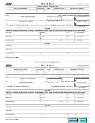 Bill Of Sale Auto California Examples Of Bill Sales For Cars Vehicles Example Handwritten Sale