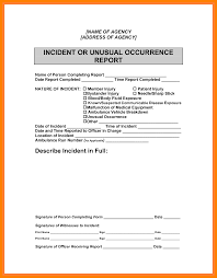 Sample Incident Report 24 How To Write An Incident Report Letter Sample Emt Resume 18