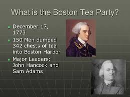 Image result for dumped 342 chests of British tea into the harbor
