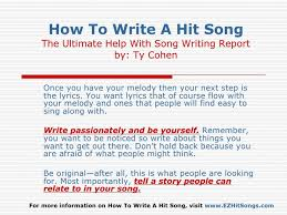 The first tip when learning how to write lyrics for a song is get familiar with journaling and using your senses. Help With Writing Song Lyrics