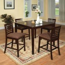 furniture of america eaton espresso dining set with counter height table