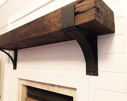 iron mantel brackets. Perfect Iron Fireplace Mantel Mantel Decor Rustic Farmhouse  Intended Iron Brackets