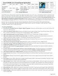 Strength And Conditioning Resume Examples Bitacorita