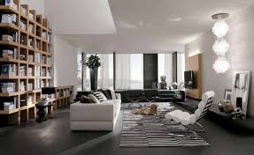 Interior Design Black And White Living Room Amusing Open Plan Living Room Design With Sustainable Bamboo