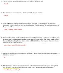 word problems linear equations of solving linear post