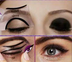 2pcs cat eyeliner stencil makeup eyeliner stencils models card makeup tools