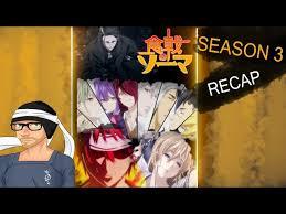 food wars shokugeki no soma season 3