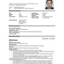 Resumes Model Format Job Resume Sample Template New 2012 Pertaining