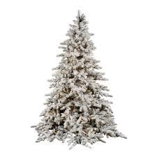 Christmas Tree with White Incandescent Lights. Vickerman-Co.-Flocked