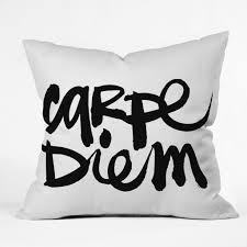 kal barteski carpe diem throw pillow deny designs