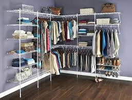 closet maid wire shelving attachable hang rods closetmaid wire shelving