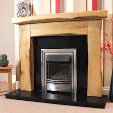 waney edge ashford rustic solid oak beam fireplace