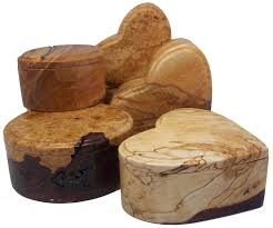 carved burl wood boxes