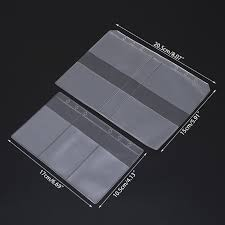 Clear Pvc Business Card Storage Bag Filing Products Holder Binder