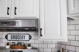 white painted kitchen cabinets sweet