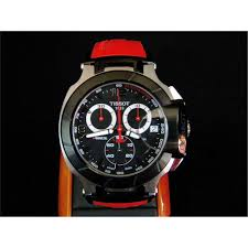 tissot t race men s watch red arm band