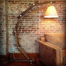 rustic wood arc floor lamp 20 mind blowing diy projects