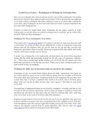 how to write an awesome cover letter good cover letter techniques to writing an awesome one