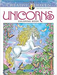 amazon creative haven unicorns coloring book coloring 9780486814933 marty le books