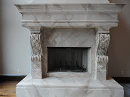 hearth mantel faux painted to look like marble