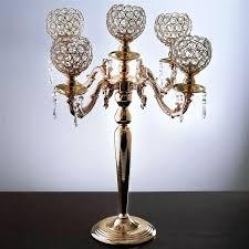 chandeliers votive candle chandelier candelabra crystal holder wedding centerpiece tall gold