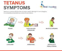 tetanus toxin what are the symptoms of tetanus infographic
