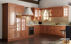 rural cherry wood kitchen cabinet op15 s04