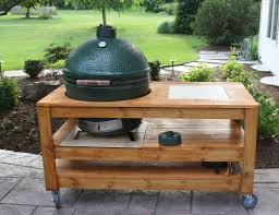 new big green egg built in outdoor kitchen